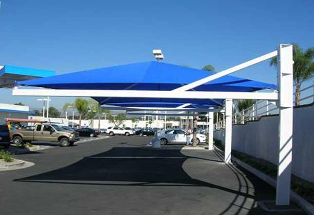 Megasombras venta al mayoreo y menudeo de malla sombra for Toldos para estacionamiento